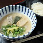 1かぎ卯 商品(白みそと生麩のつけ麺)